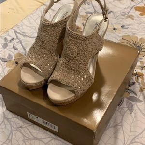 Tan wedges - size 8.5